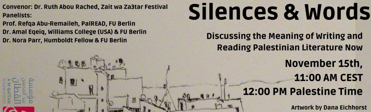 banner silence and words pannel